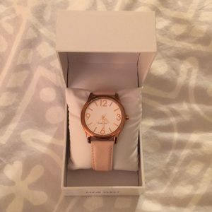 NWT Nine West pink stainless steel watch
